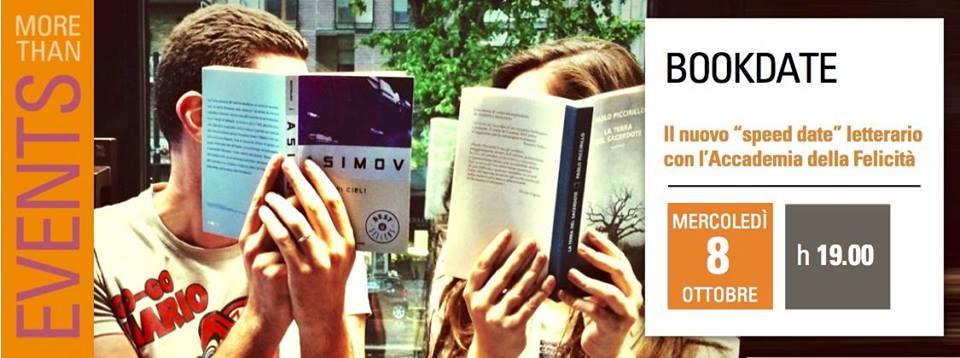 """Il """"Bookdate"""": un evento letterario che unisce le persone, mercoledì 8 ottobre 2014, Milano"""