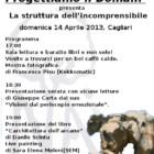 """""""Progettiamo il domani"""" presenta La struttura dell'incomprensibile, domenica 14 aprile, Cagliari"""
