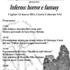 """""""Progettiamo il domani"""" presenta Inferno: horror e fantasy, sabato 23 marzo 2013, Cagliari"""
