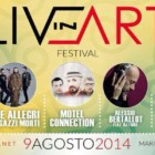"""""""Live in Art Festival 2014"""": musica, sport, gastronomia, artigianato, sabato 9 agosto, Torregrande"""