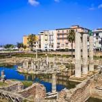 Tempio di Serapide a Pozzuoli: una palude con le rane