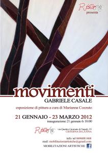 """""""Movimenti"""", esposizione di pittura di Gabriele Casale, dal 21 gennaio 2012 al 23 marzo 2012, Latina"""