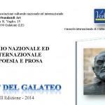 """II edizione del Concorso nazionale ed internazionale di poesia e prosa """"Città del Galateo 2014"""" – bando di regolamento"""