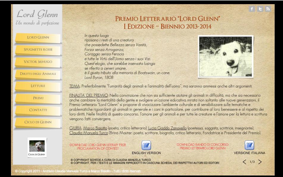 """I edizione del Premio Letterario """"Lord Glenn"""" – bando completo"""