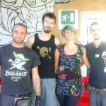 Intervista di Sarah Mataloni agli artisti della flow art fire performer della Biennale MArteLive 2014