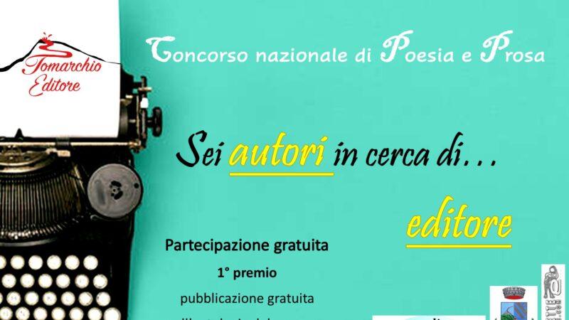 Sei autori in cerca di editore: bando di partecipazione del Concorso nazionale della casa editrice Tomarchio Editore
