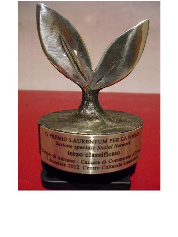 """Resoconto della cerimonia di premiazione della XXVI edizione del """"Premio Laurentum"""" di Poesia"""