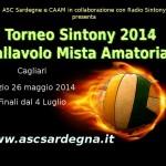 """Terza edizione del """"Torneo Sintony"""" di pallavolo mista amatoriale a Cagliari: scadenza iscrizione 25 maggio 2014"""