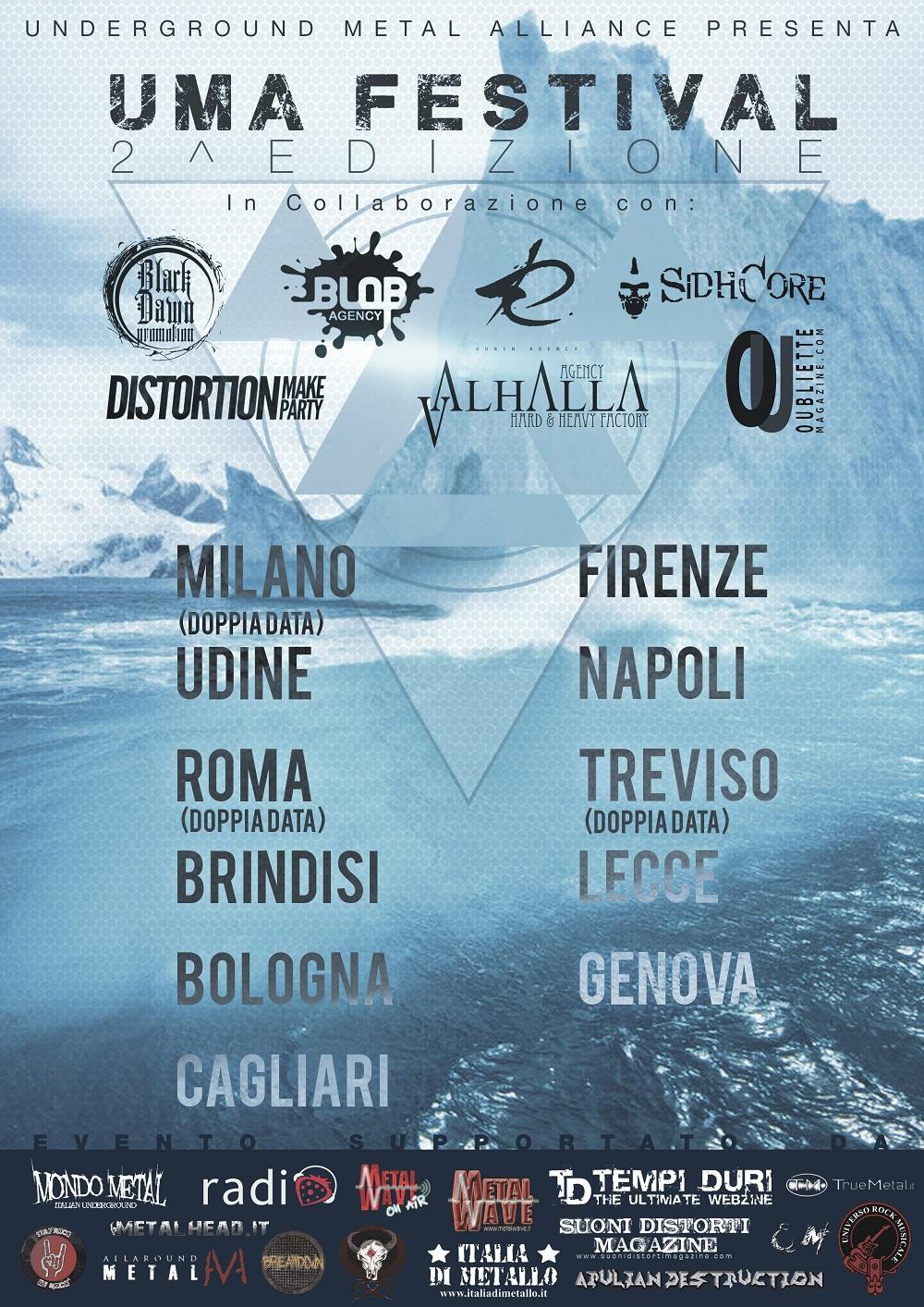 II Edizione dell'Uma Fest: l'Underground Metal Alliance con 14 concerti in giro per l'Italia