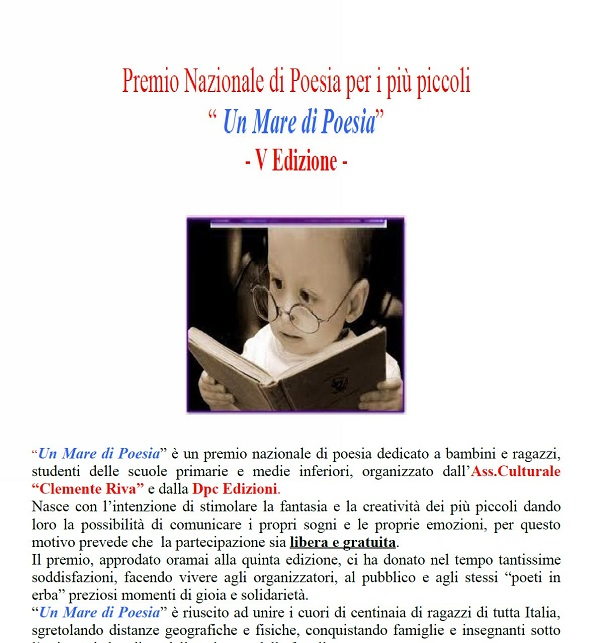 """V° Edizione del Premio Nazionale """"Un Mare di Poesia"""""""